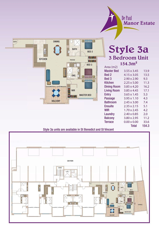 Style 3a Floorplan 1280w